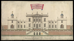 The Garden Front of Redland Court being the Seat of John Cossins Esq 1735